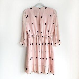 kate spade Dresses - KATE SPADE Pink and black polka dress | Size 4